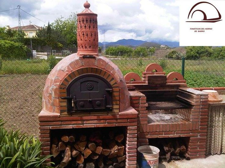 Horno y barbacoa hornos de le a y barbacoas pinterest - Cocinas con horno de lena ...