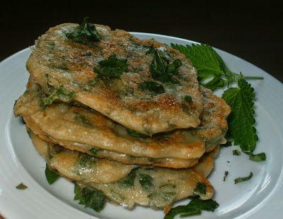 Wege Kuchnia: Racuchy z pokrzywą Pfannkuchen mit Brennessel
