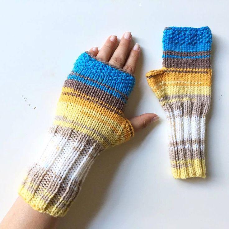 Mittens, Knit Fingerless gloves, Knitted Fingerless Mittens, Long Arm Warmers, Hand Warmers, Boho Glove, Wrist Warmers, Winter…