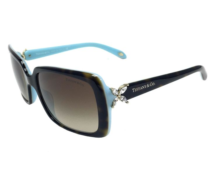 Tiffany & Co. TF4047B 81343B Havana-Blue/ Brown Gradient 55mm Sunglasses