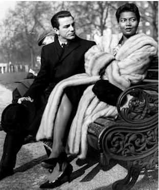 Pearl Bailey & husband jazz drummer Louis Bellson were married 38 years (1952 until her death in 1990). Reportedly fell in love while sharing a cab.  She was a Republican; he was six years younger than she.