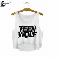 """""""Teen Wolf"""" Parte Superior Do Tanque Estilo letras Top Safra de Verão Mulheres Tops Roupas Baratas China Cropped Moda Mujer Camisola F722(China (Mainland))"""