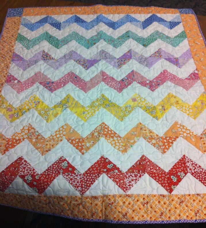 layer cake cheveron quilt | LOVE APPLE QUILTERS SATURDAY WORKSHOPS