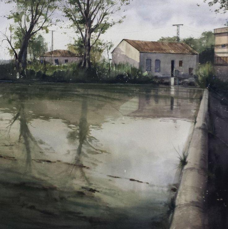 Pablo Rubén López Sanz   Acuarela/Watercolor, 100 x 100 cm.