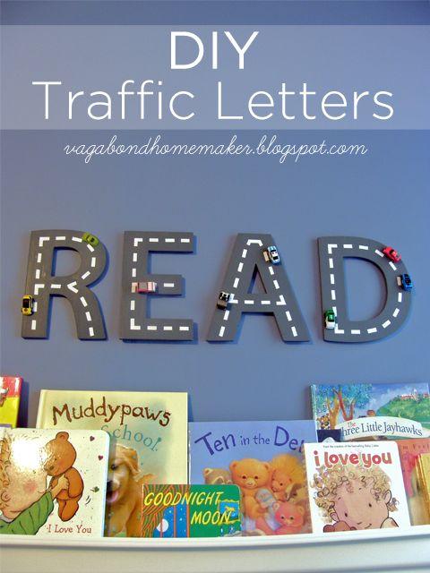DIY Traffic Letter Tutorial | The Vagabond Homemaker