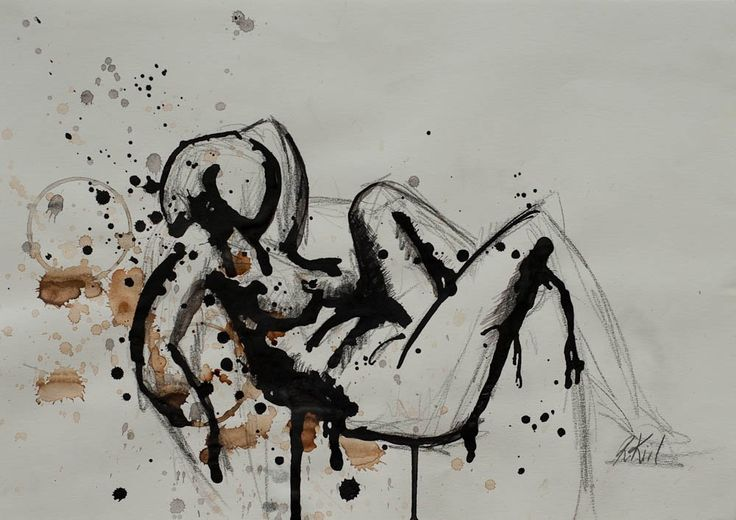Ink on paper (By Rikke Kiil)