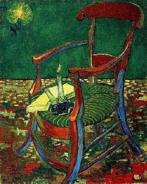 La sedia di Gaugin con bugia e due libri - Vincent van Gogj