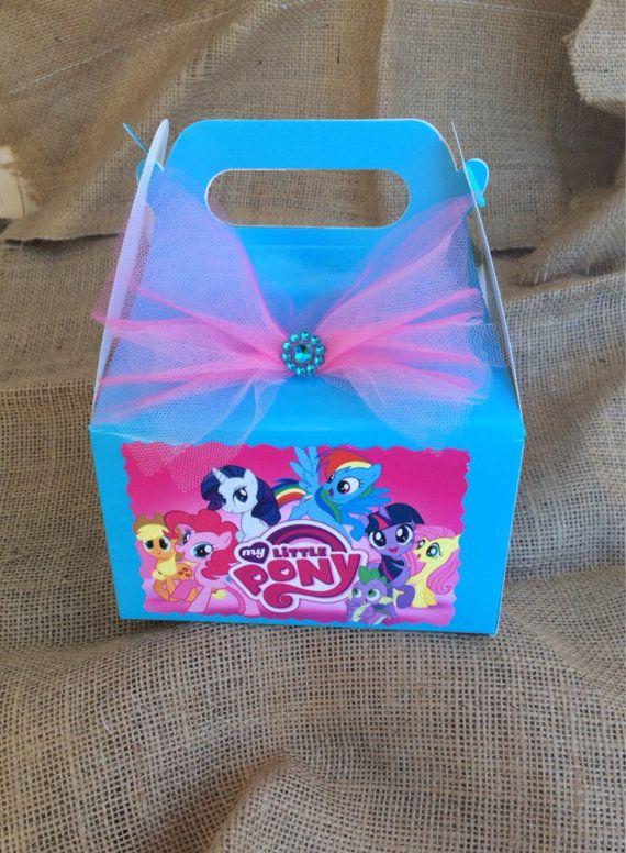 Mi pequeño Pony cumpleaños Candy Box-Favor por FantastikCreations
