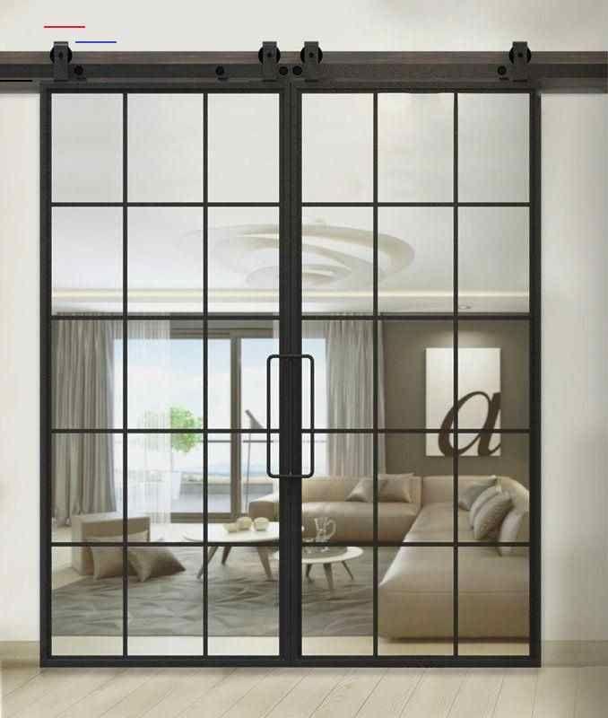 Frenchindustrial In 2020 Glass Barn Doors Garage Door Design French Doors Interior