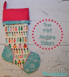 FREE PDF Stocking Pattern by Pattern Revolution. http://patternrevolution.com/blog/2013/11/19/free-cuffed-stocking-pattern