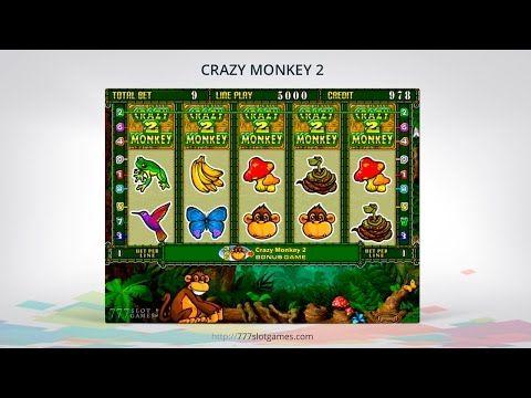 Игровые автоматы Crazy Monkey 2 на тему джунглей содержат риск-игру и две крутые бонусные игры. © 777SlotGames «Игровые автоматы» #777SlotGames #onlineslots