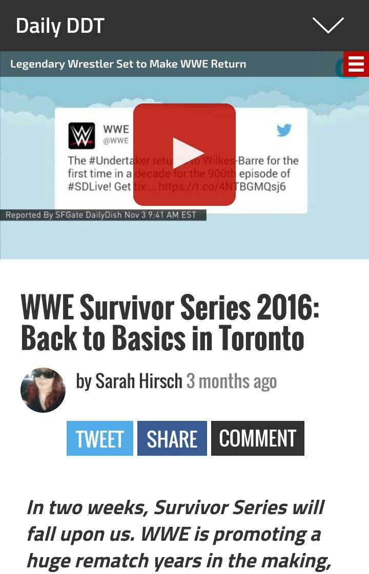 WWE Survivor Series 2016: Back to Basics in Toronto