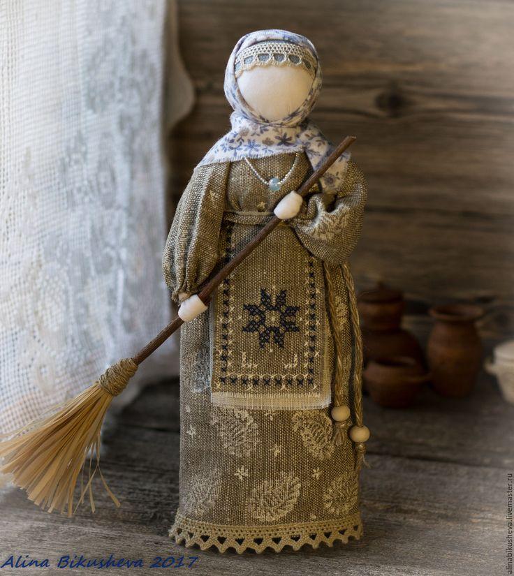 Купить Очистительная славянская кукла «Хозяйка-метлушка» - славянский оберег, кукла оберег, русская кукла