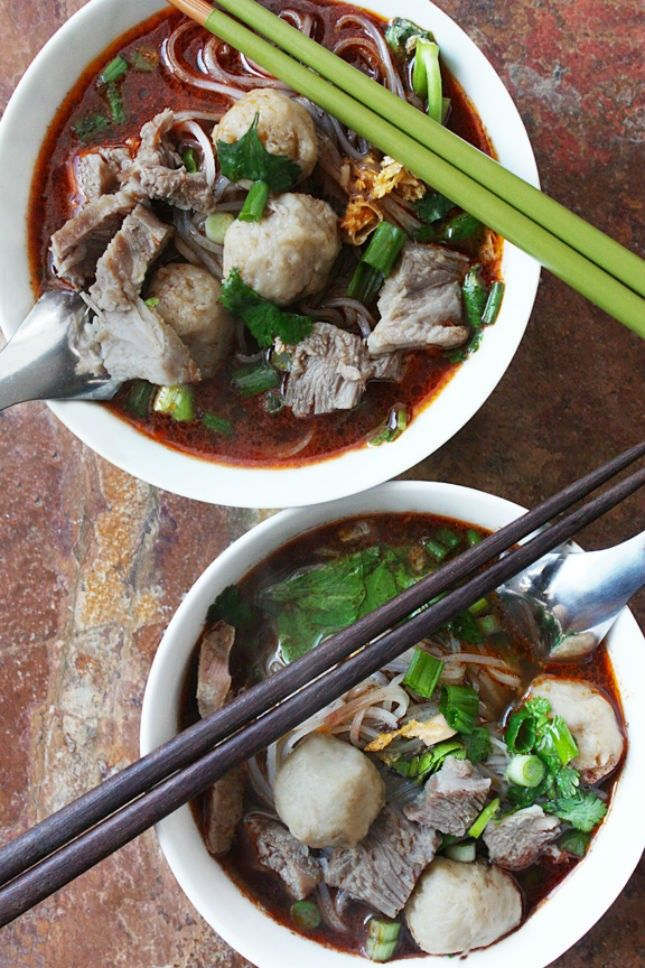 Cook up a pot of Thai Boat Noodles for a taste of Thai street food.