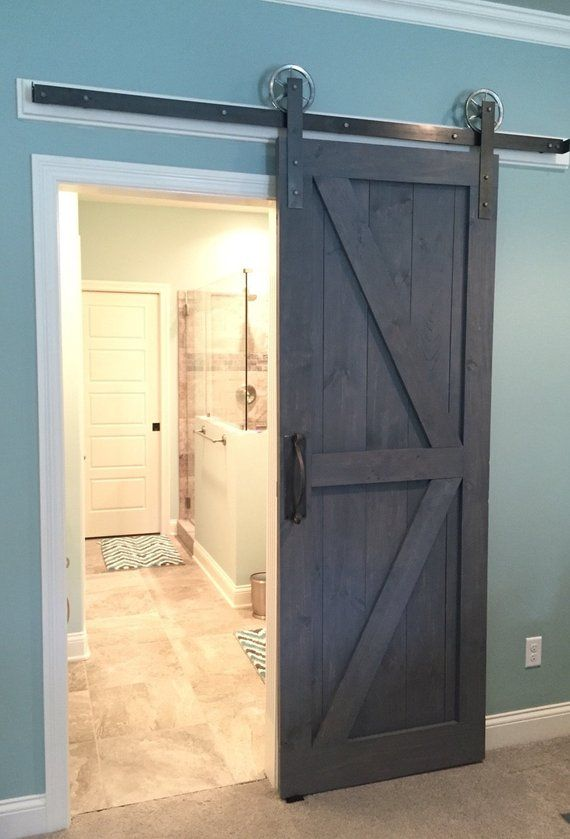 Custom Handmade Rustic Barn Door British Brace With Border Interior Sliding Barn Doors Barn Door Hardware Diy Barn Door