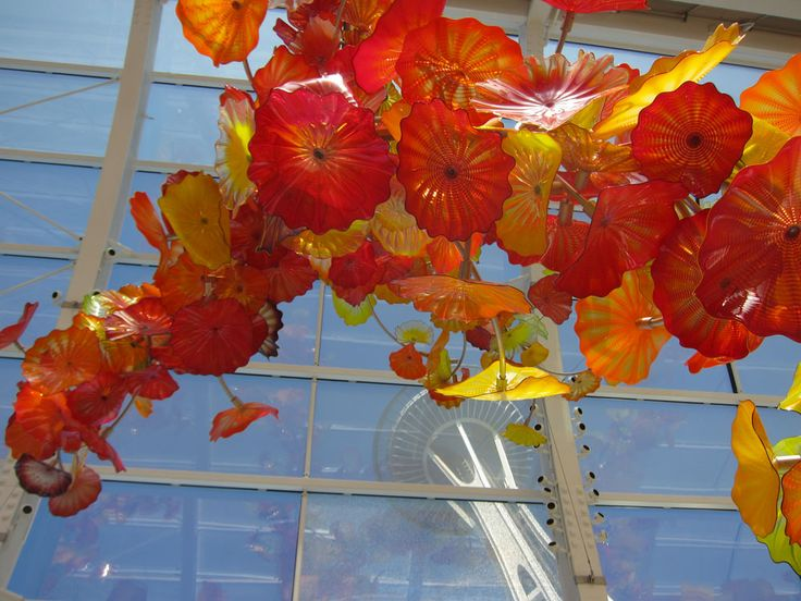 Seattle - Space Needle from Chihuly Garden & Glass
