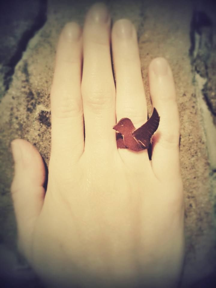 leather ring inspired by pinterest...