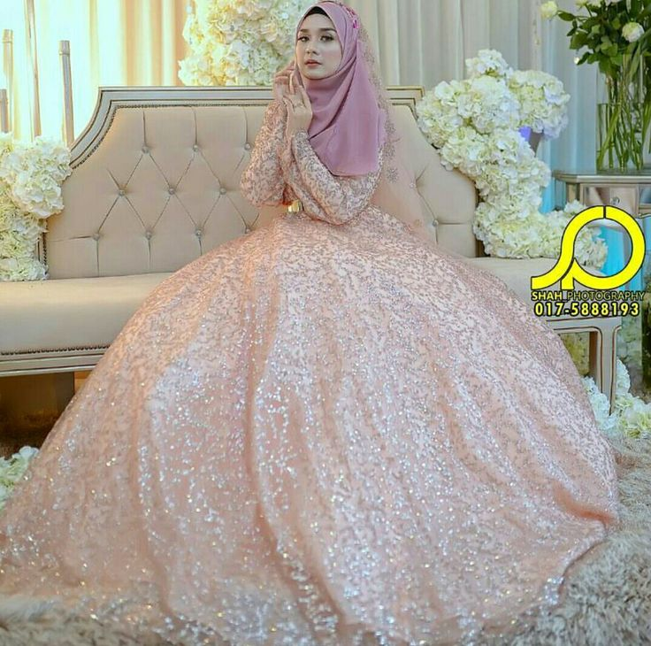 Ball gown with hijab @eszzibrahim Photo by shah photography
