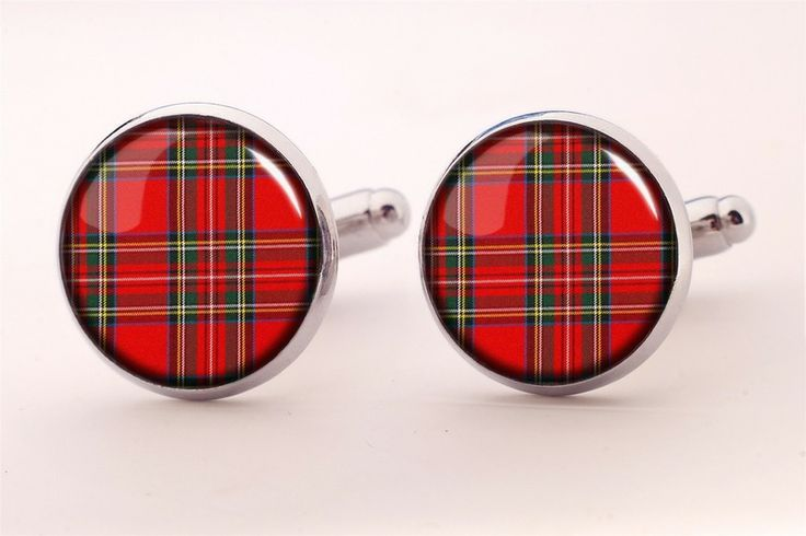 Scottish plaid Cuff links, 0200CS from EgginEgg by DaWanda.com