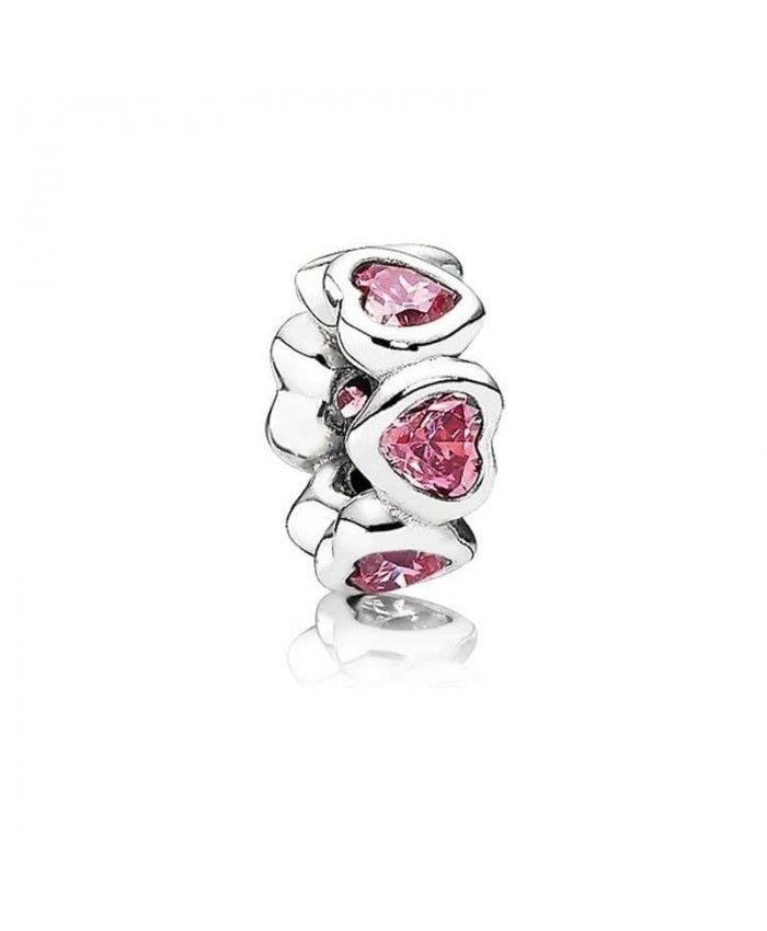 ee6ec9c70 PANDORA Pink Sparkling Heart Spacer 791252CZS | Pandora & more ...