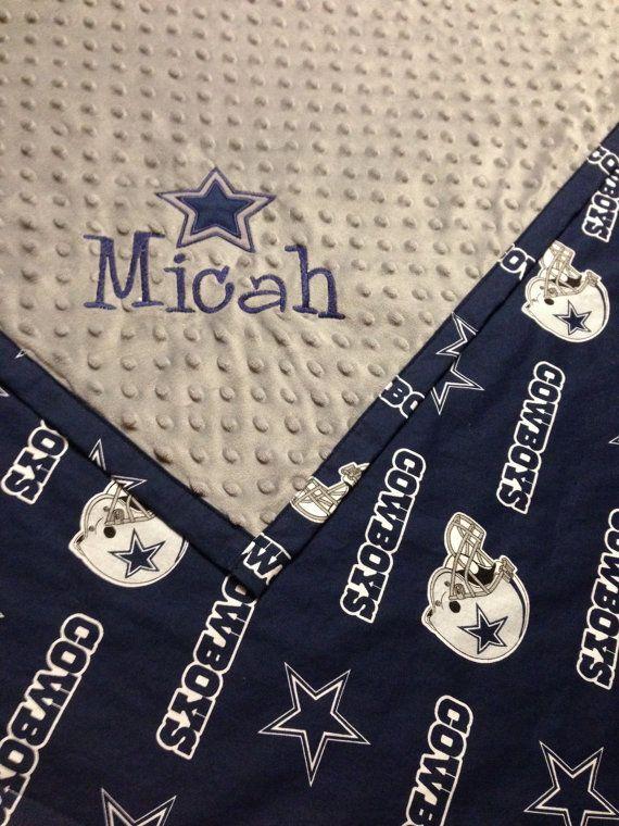 Personalized+Dallas+Cowboy+Baby+Blanket+by+StitchesbyStephie,+$50.00