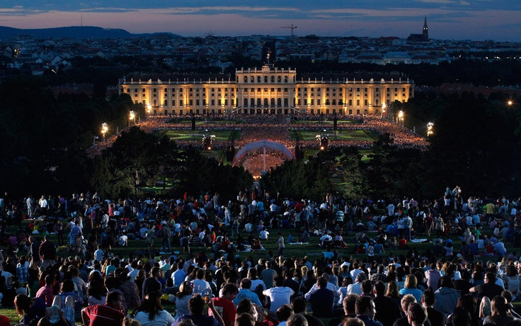 Summer Night Concert (Sommernachtskonzert) of the Vienna Philharmonic Orchestra in Vienna