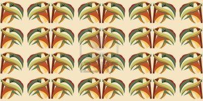 Nahtlose abstrakte Tapete Hintergrundmuster eines tropischen Papagei-Kopfes Stockfoto - 9764894