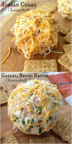 Two easy and delicious cheese ball recipes. Perfect #gamedayrecipe #appetizer #cheeseball