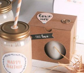 Summer DIY. Packaging to take away.  Caja para tazas decorada Decorations. Packaging design. Kraft. Inspiration