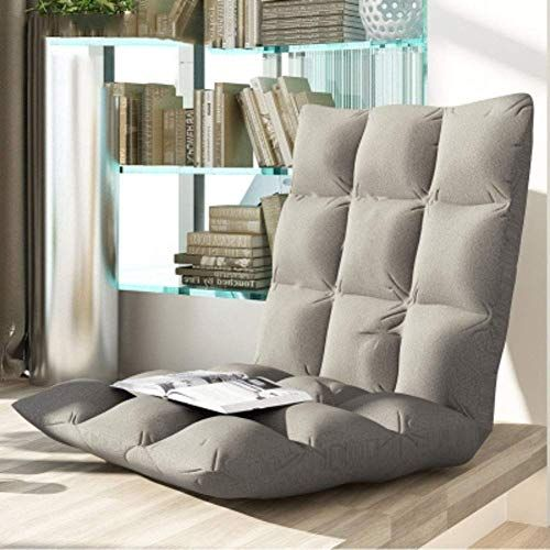 Best Scdxj Padded Floor Chair Backrest Folding Lazy Recliner 400 x 300