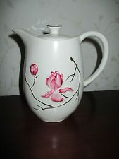HAND PAINTED CARLTON WARE COFFEE POT / HOT WATER POT MAGNOLIA DESIGN No 0197
