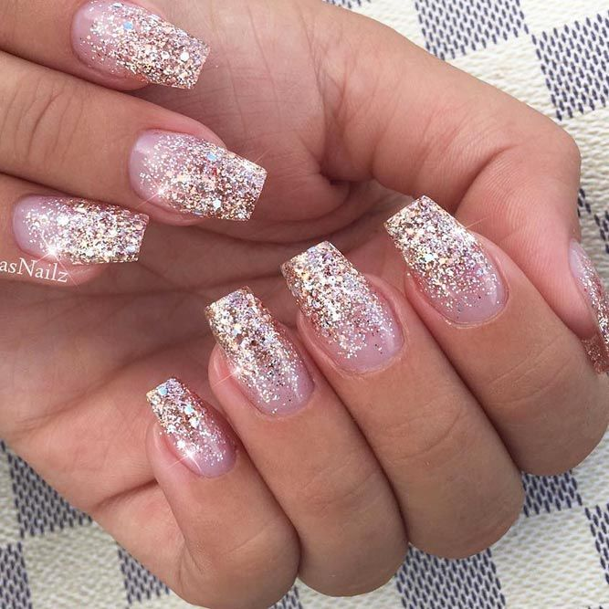 Perfect Shimmer Nails May Be Tricky To Get But Once You Master The Art There Will Be Nothing You Would Not Ombre Nails Glitter Gold Nails Gold Acrylic Nails