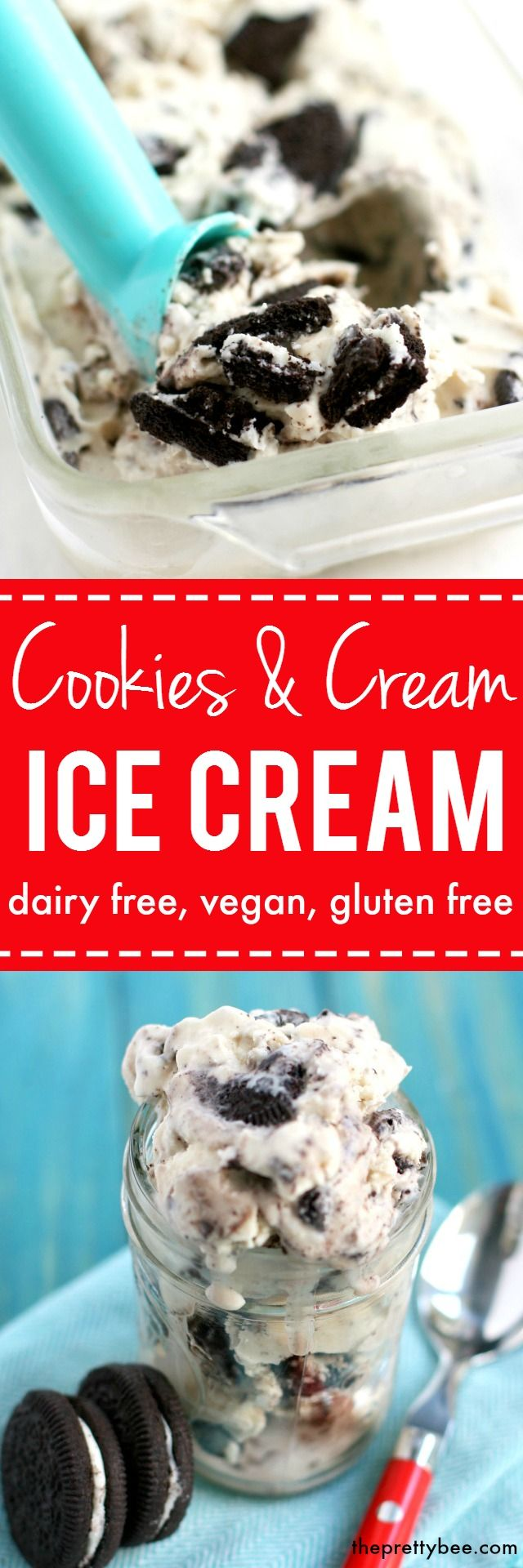 Deliciously sweet and decadent dairy free cookies and cream ice cream is sure to become a favorite recipe! Easy to make at home!