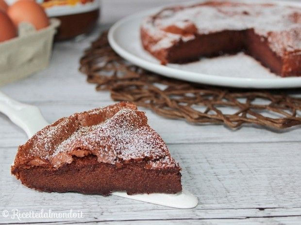 Ricetta per Torta alla Nutella con 2 Ingredienti