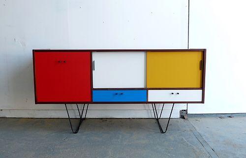 Awesome Custom Design SIDEBOARD / Cabinet Teak Vintage Retro * Painted * Danish   eBay