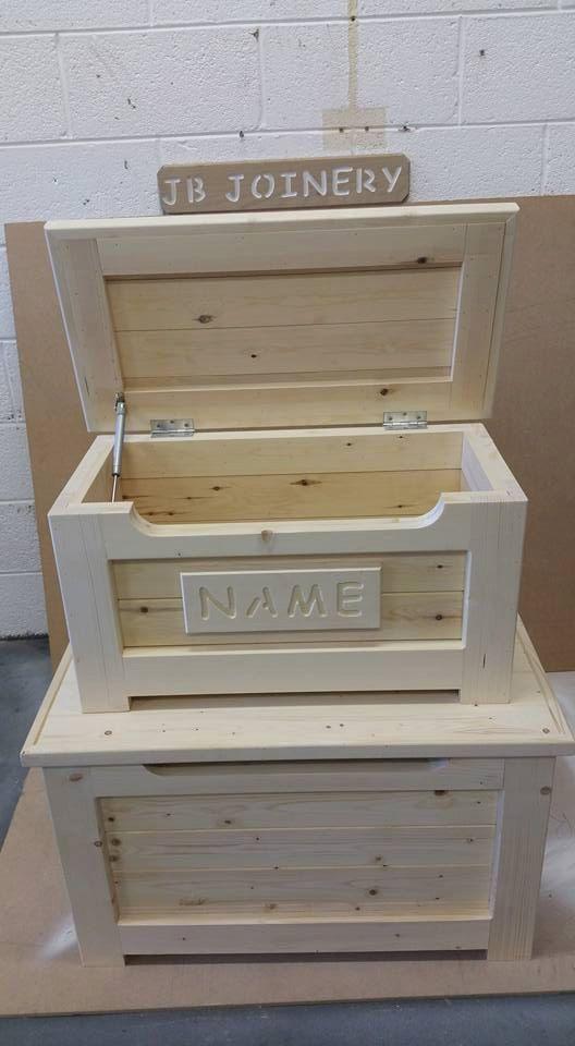 Juguete de madera hecho a mano caja pino macizo otomano de pecho disponible en 2 tamaños
