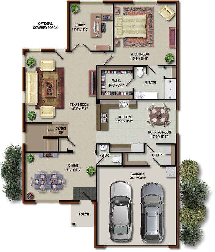 floor plans floor plan 169 per floor level 3d render floor modern house