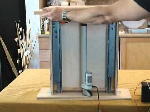 Automated Spice Rack using Linear Actuators - Progressive Automations - YouTube