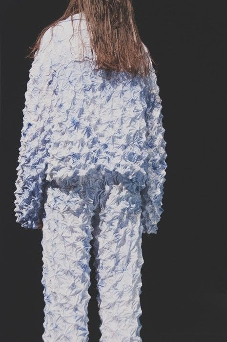 Pinched denim at Faustine Steinmetz SS15 LFW. More images here…
