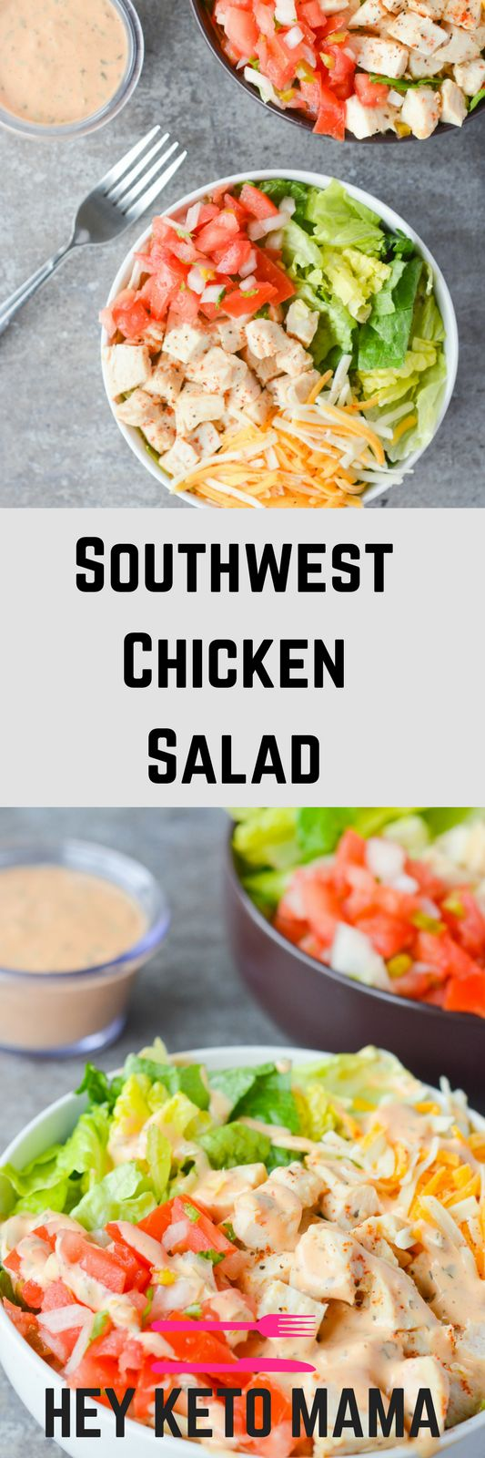 The Southwest Chicken Salad is one of my all time favorites. It's crisp, refreshing, and has just the right amount of kick. This dish is PERFECT for Spring afternoon.   heyketomama.com