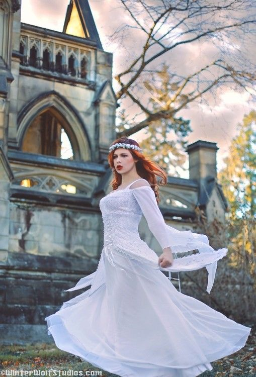 Artesia Gothic Corset Lacing Medieval Wedding by RomanticThreads, $465.00