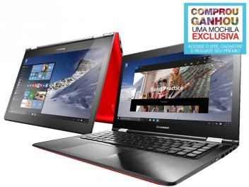 "Notebook 2 em 1 Lenovo Yoga 500 Intel Core i5 - 4GB 1TB LED 14"" Touch Screen Windows 10"