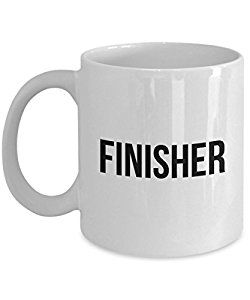 Amazon.com | Finisher Positive Affirmations Morning Coffee Mug Gift For Men  Women