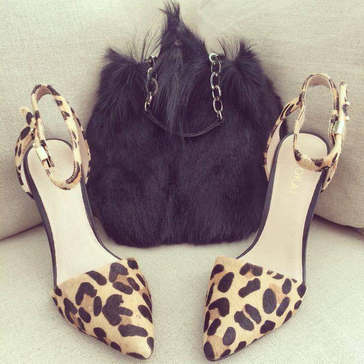 Our stunning Springbok bag... #leather #black #bag #leopard #print #heels #shoes #kookai #travel #wanderlust #love #style #fashion #cool #woman #perfect #shop #girl www.charliemac.com.au