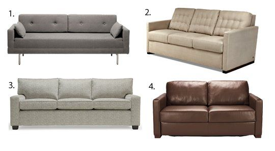16 Best Sleeper Sofas & Sofa Beds 2013 — Apartment Therapy's Annual Guide  Payton Comfort Sleeper from American Leather - Queen