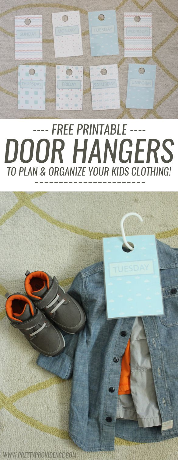 Organize kids clothes & make it easy for them to get dressed themselves with free printable door hangers! #momhack #ad #surprize