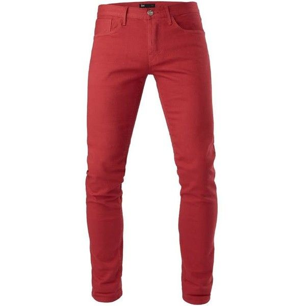 3x1 M5 Low Rise Slim ($98) ❤ liked on Polyvore featuring men's fashion, men's clothing, men's jeans, mercury, mens low rise slim fit bootcut jeans, mens red jeans, mens low rise jeans, mens flap pocket jeans and mens slim cut jeans