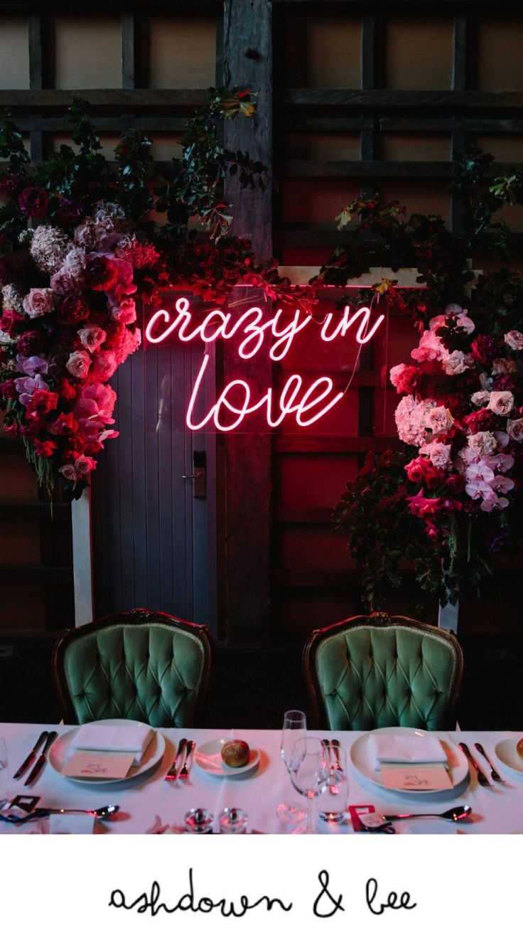 Wedding Neon Sign Sydney Stylist Ashdown & Bee