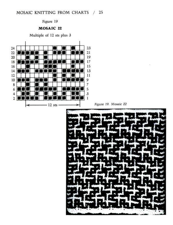 Mosaic Knitting Barbara G. Walker (Lenivii gakkard) Mosaic Knitting Barbara G. Walker (Lenivii gakkard) #30