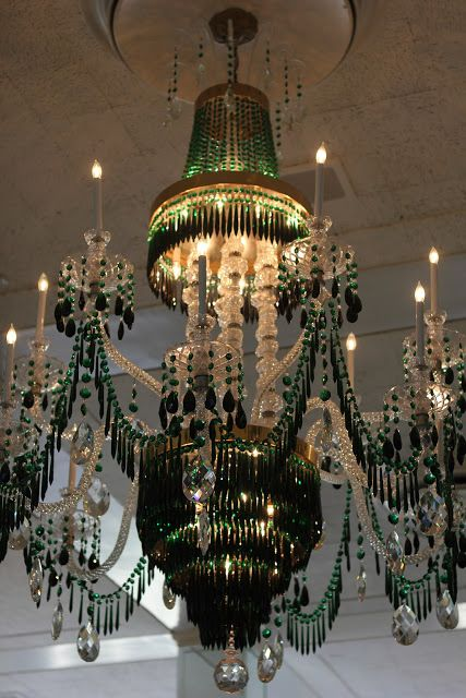 The Greenbrier chandelier, via Romancing the Home.
